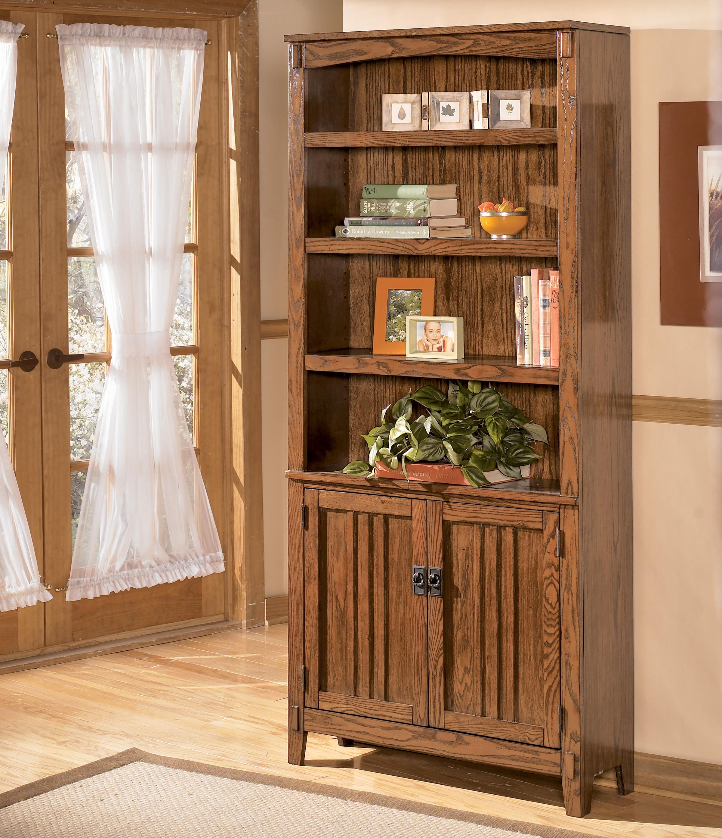 Ashley Furniture Cross Island Large Door Bookcase - Item Number: H319-18