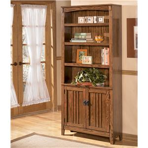 Ashley Furniture Cross Island Large Door Bookcase