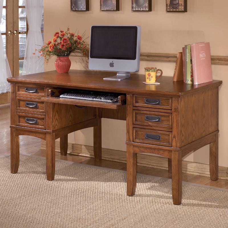 Ashley Furniture Cross Island Leg Desk with Storage - Item Number: H319-26