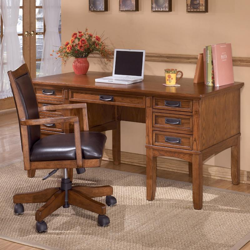 Ashley Furniture Cross Island Mission Home Office Storage Leg Desk Royal Furniture Double