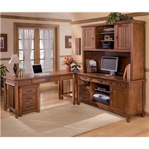 Signature Design by Ashley Furniture Cross Island 5 Piece L-Shape Desk