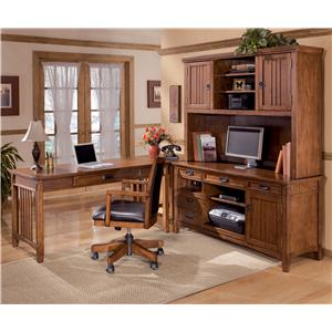 Signature Design by Ashley Furniture Cross Island 4 Piece L-Shape Desk
