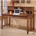 Ashley Furniture Cross Island Large Leg Desk and Low Hutch - Item Number: H319-44+48
