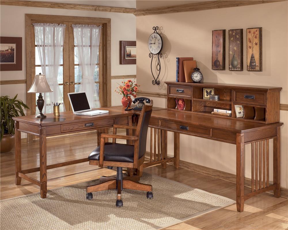 Ashley Furniture Cross Island Oak Large Leg Desk Olinde