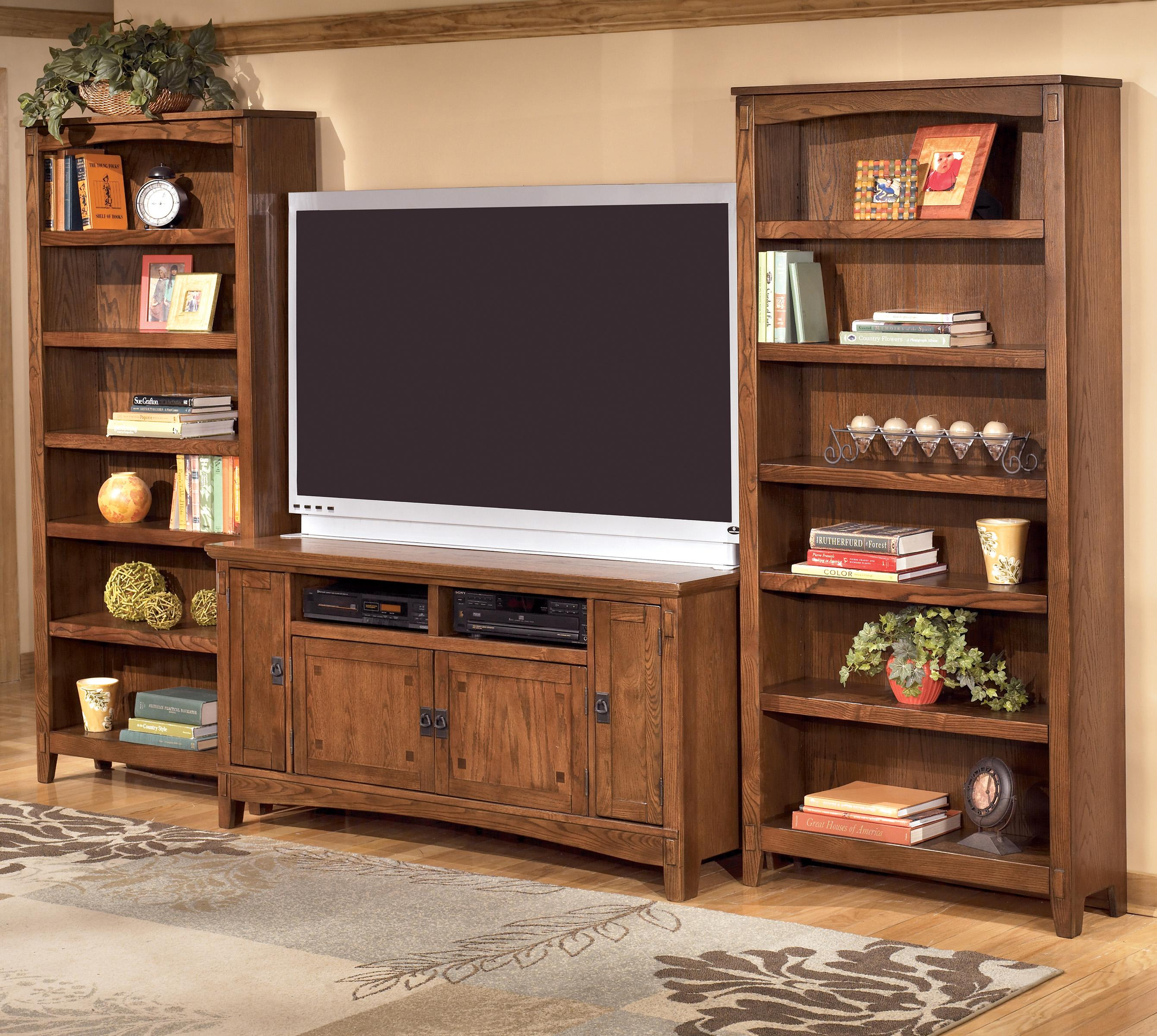 Ashley Furniture Cross Island 60 Inch Tv Stand 2 Large Bookcases Westrich Liances Wall Unit