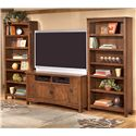 Ashley Furniture Cross Island 60 Inch TV Stand & 2 Large Bookcases - Item Number: W319-38+2xH319-17