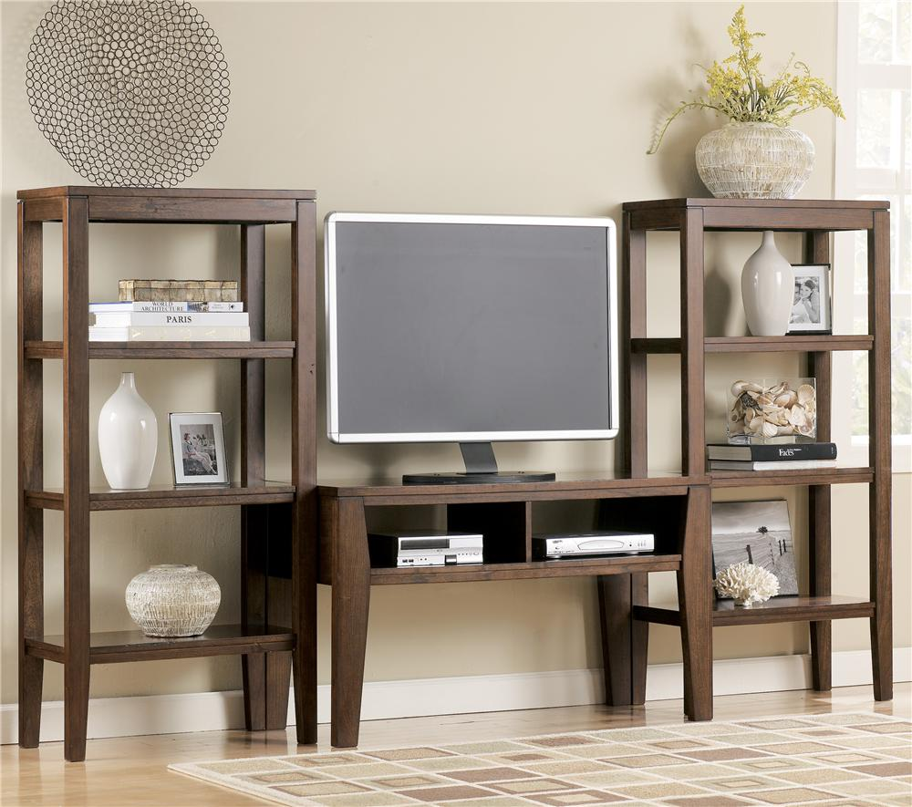 Signature Design by Ashley Deagan TV Stand with 2 Piers - Item Number: T334-10+2x11