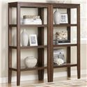 Signature Design by Ashley Deagan Contemporary TV Stand with 2 Pier Open Bookcases - Piers used separately