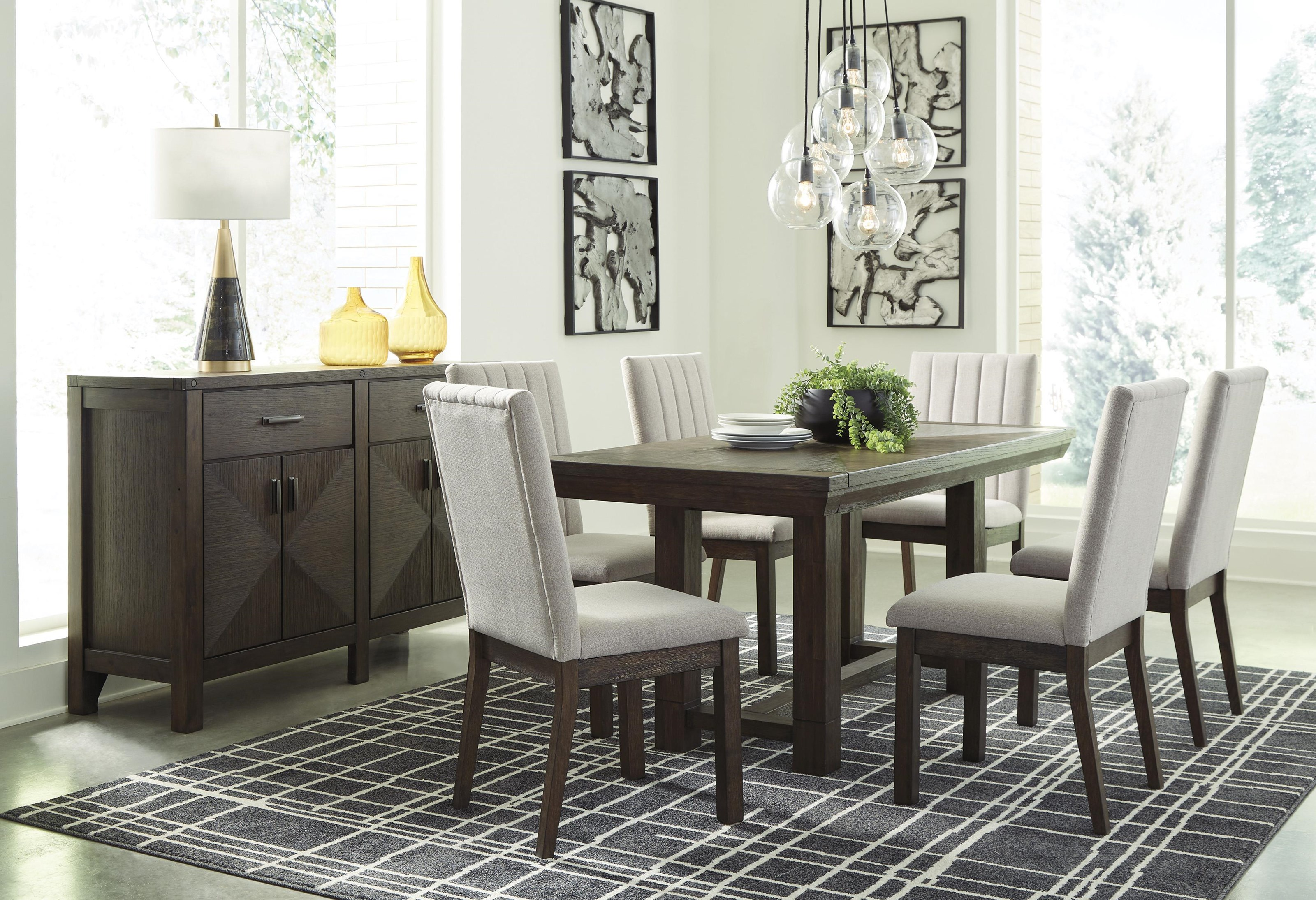 Ashley Furniture Dellbeck D748-45+6X01+60 8 PC Table, 6 ...