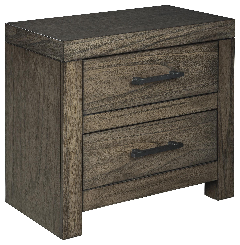 Picture of: Ashley Furniture Deylin B537 92 Two Drawer Nightstand Sam Levitz Furniture Nightstands