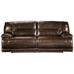 Ashley Furniture Exhilaration - Chocolate  2-seat Reclining Power Sofa (Clackamas Only)