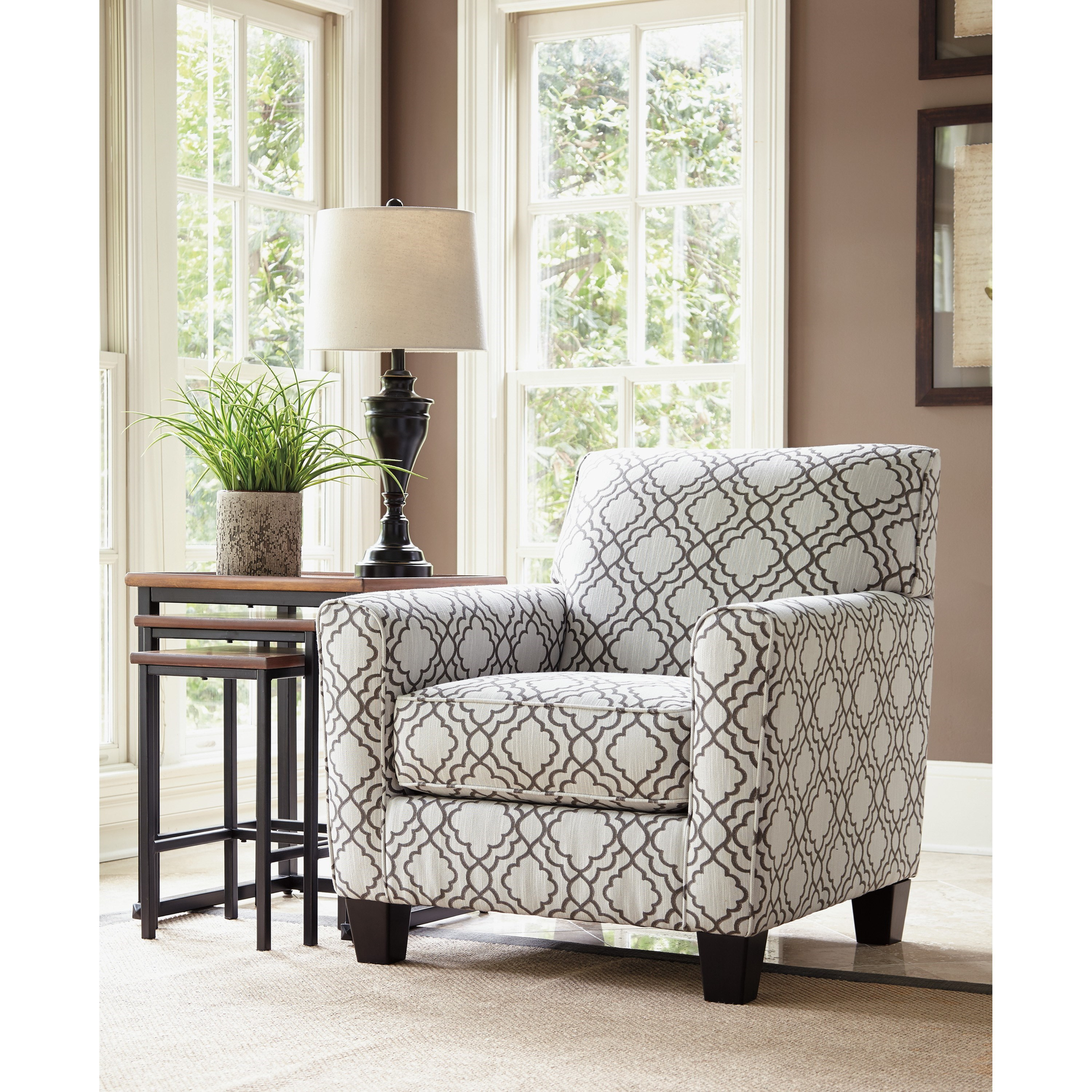 Ashley Furniture Farouh Accent Chair With Quatrefoil