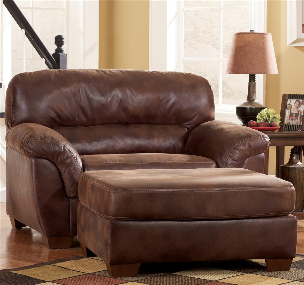 Ashley Furniture Frontier   Canyon Chair And A Half U0026 Ottoman Set   AHFA    Chair U0026 Ottoman Dealer Locator