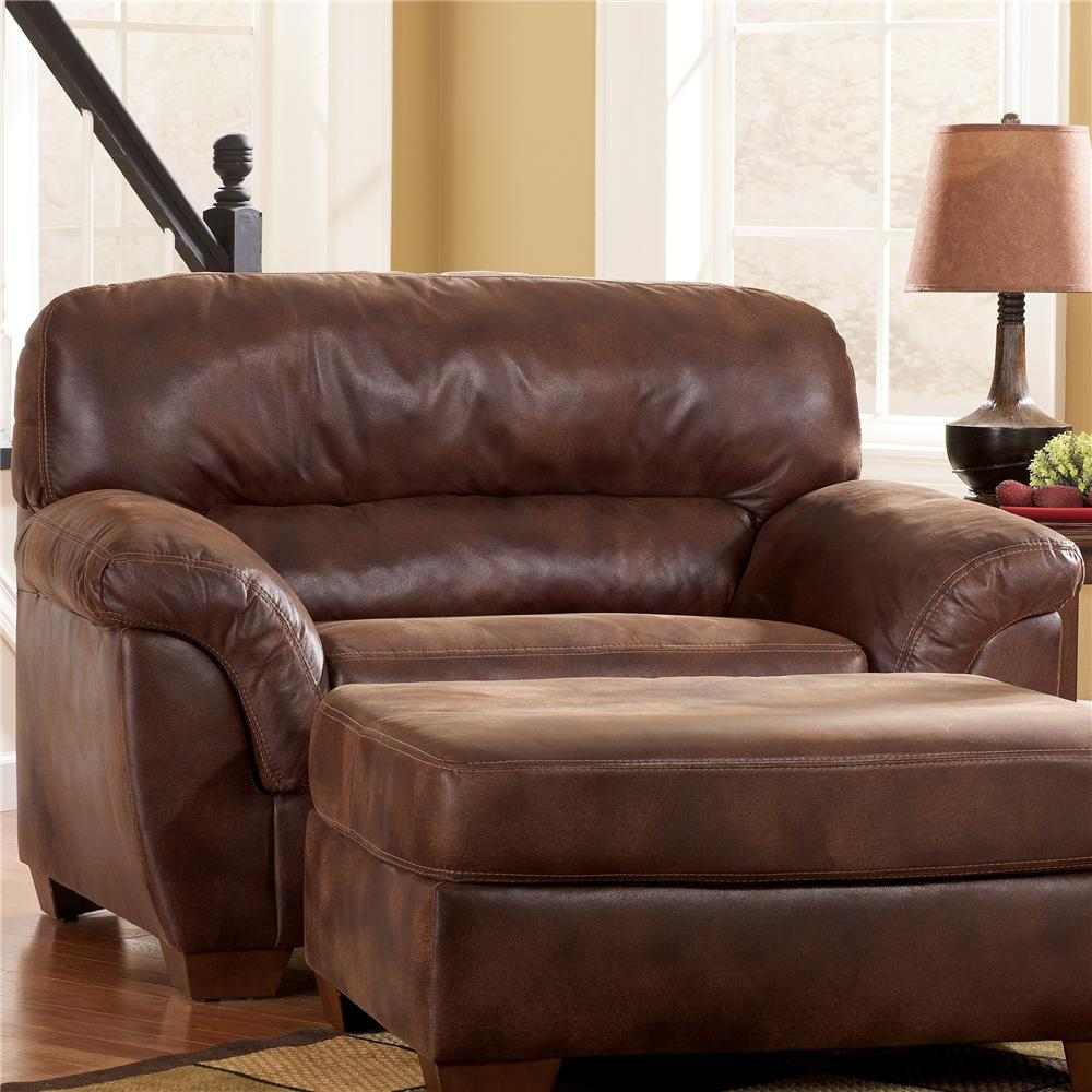 Ashley Furniture Frontier   Canyon Upholstered Chair U0026 A Half With Padded  Armrests   AHFA   Chair U0026 A Half Dealer Locator