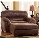 Ashley Furniture Frontier - Canyon  Upholstered Chair & A Half  with Padded Armrests - 3090023 - Shown with Matching Ottoman
