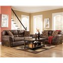 Ashley Furniture Frontier - Canyon  Loveseat with Padded Armrests - 3090035 - Shown with Sofa