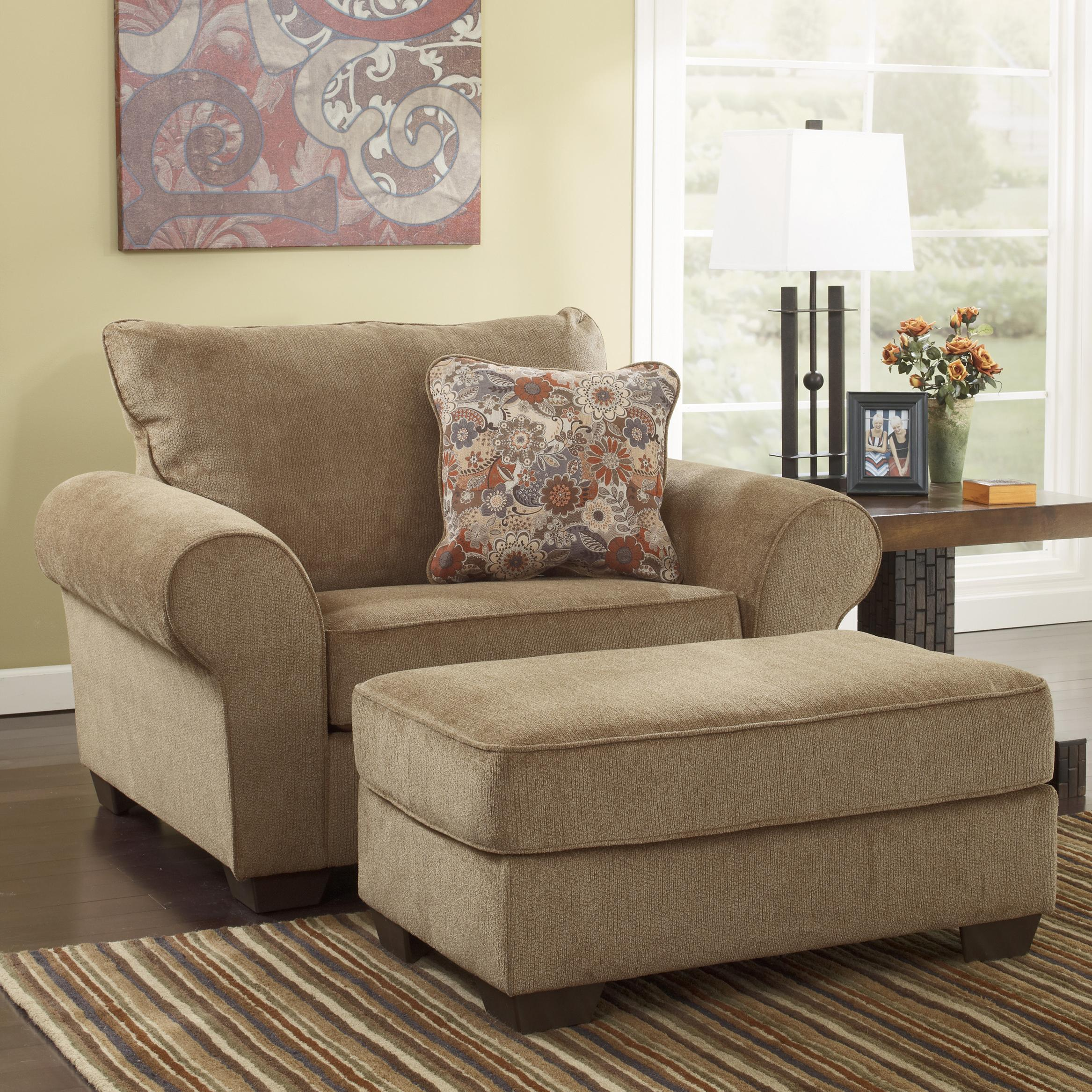 Ashley Furniture Galand - Umber Chair and a Half & Ottoman - Item Number: 1170023+14
