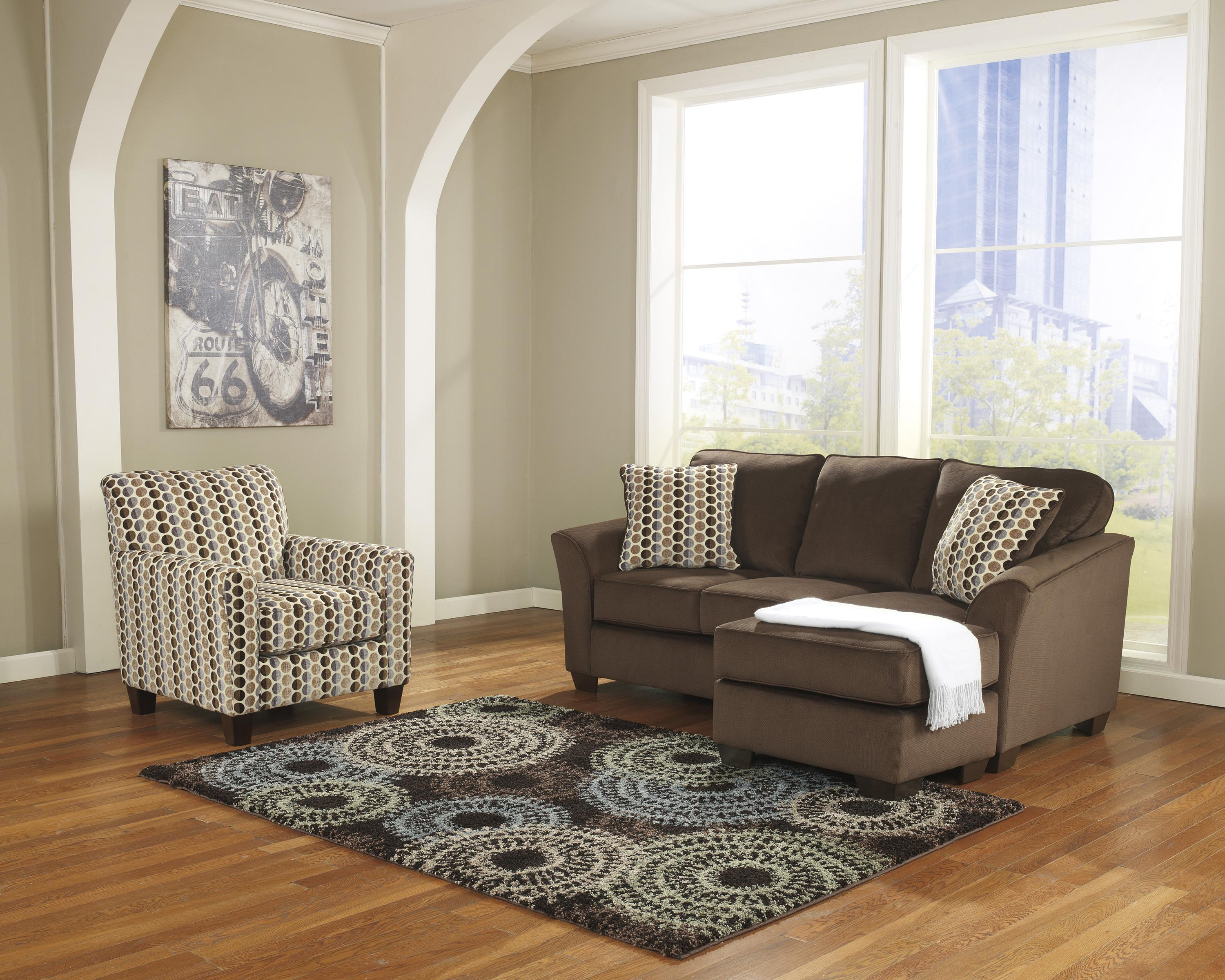 Ashley furniture geordie cafe contemporary sofa chaise for Ashley furniture chaise