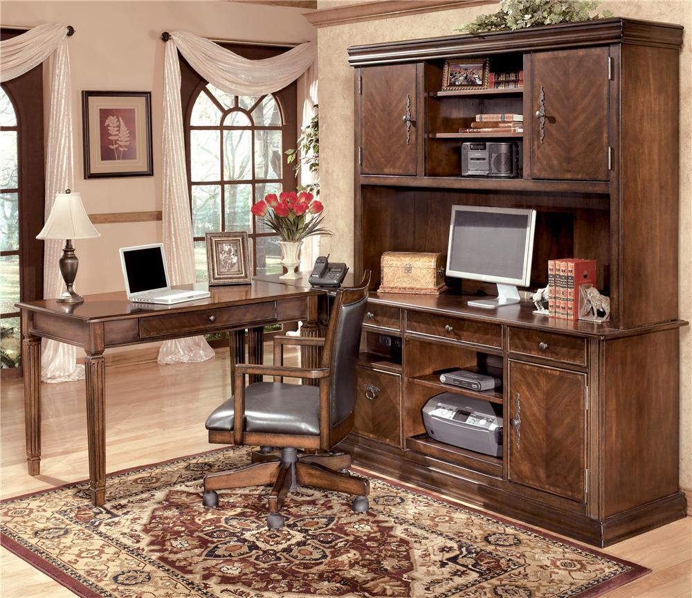 Signature Design By Ashley Hamlyn 4 Piece Modular L Shaped Desk Del Sol Furniture L Shape Desks