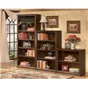 Signature Design by Ashley Hamlyn Large Bookcase - Shown with Medium and Small Bookcase