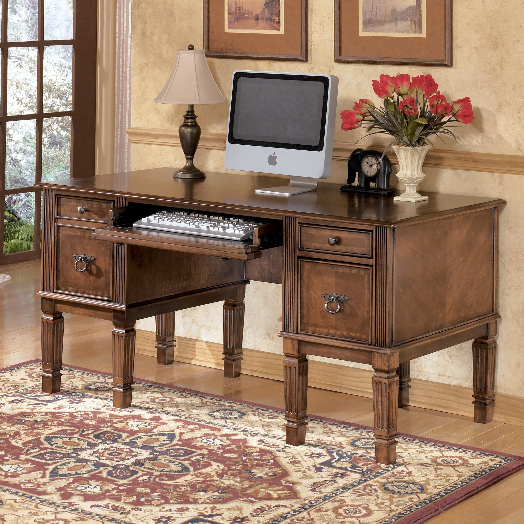 Signature Design by Ashley Hamlyn Storage Leg Desk - Item Number: H527-26