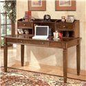 Signature Design by Ashley Hamlyn Large Leg Desk & Large Low Hutch