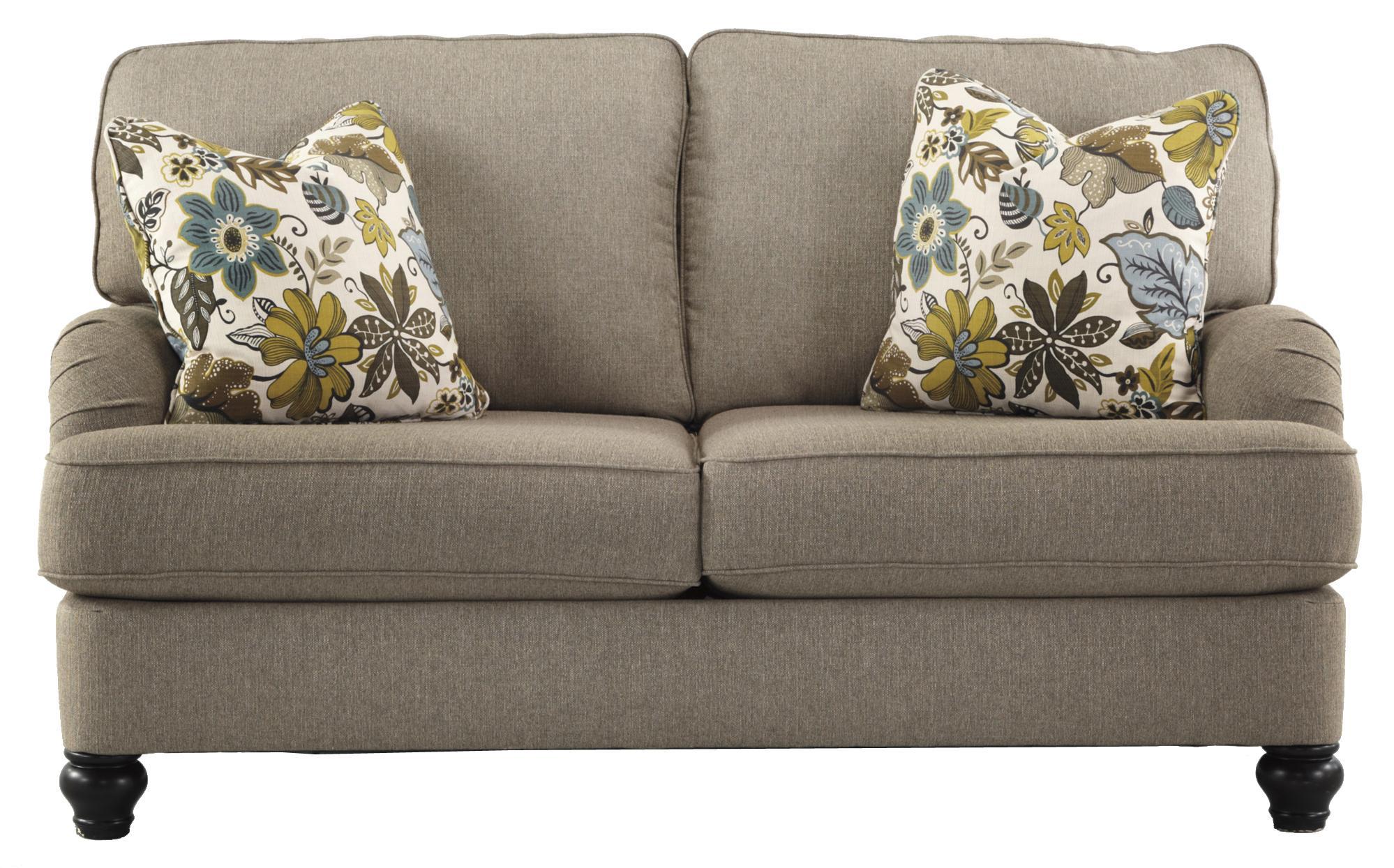 Ashley Furniture Hariston - Shitake Loveseat - Item Number: 2550035