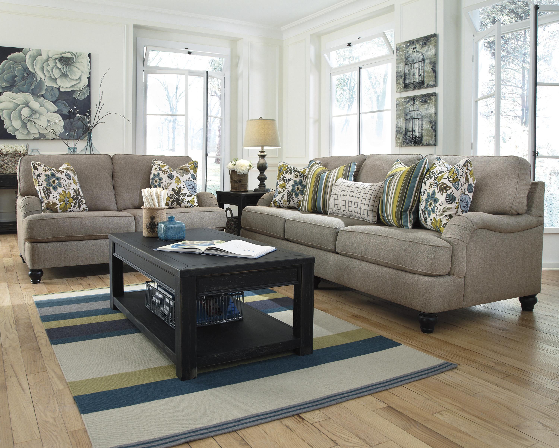 Ashley Furniture Hariston Shitake 2550038 Sofa With English Arms Del Sol Furniture Sofa