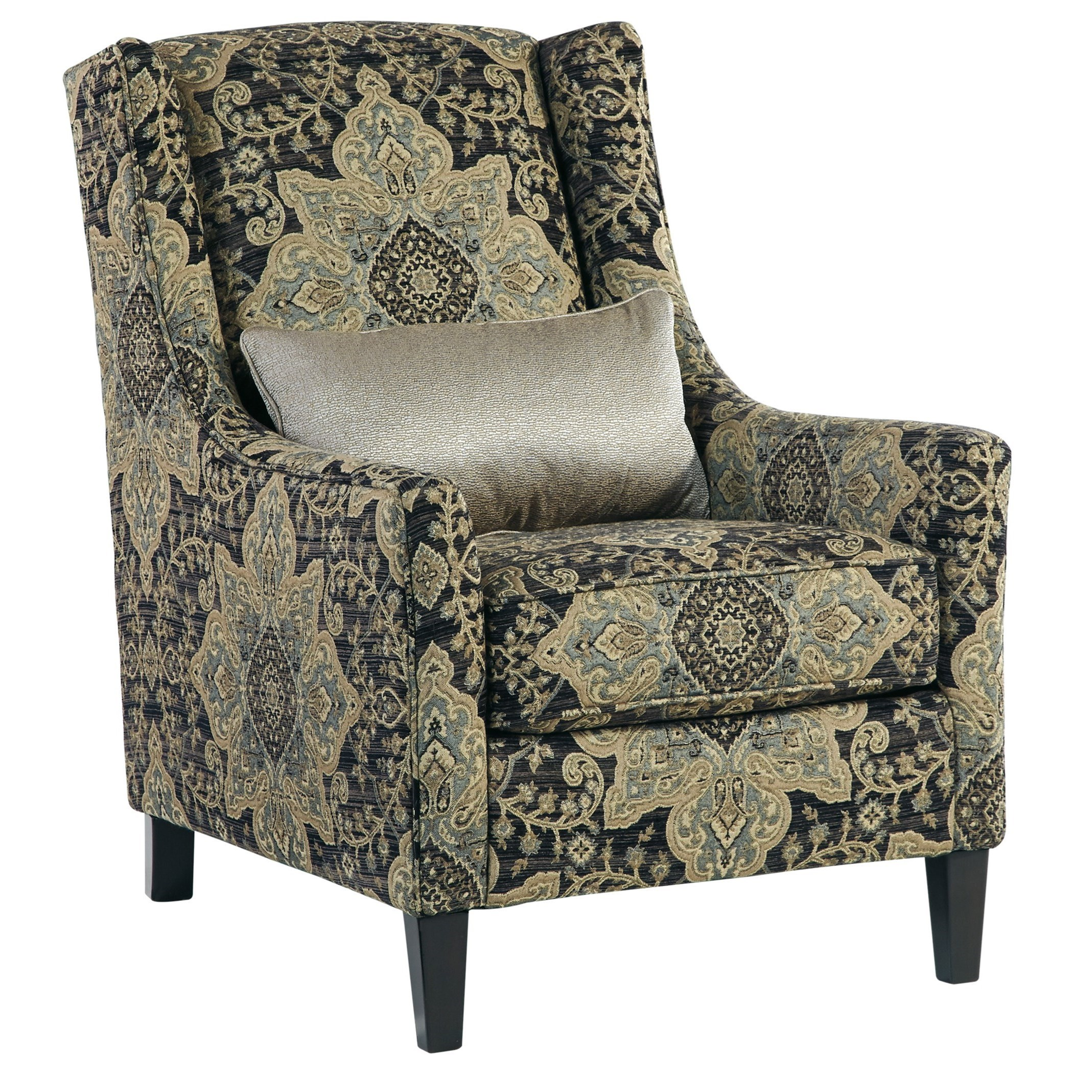 Ashley Furniture Hartigan Accent Chair with Wing Back and Accent
