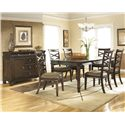 Ashley Furniture Hayley Casual Dining Room Group - Item Number: D480 Dining Room Group 2
