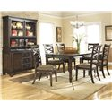 Ashley Furniture Hayley Casual Dining Room Group - Item Number: D480 Dining Room Group 3