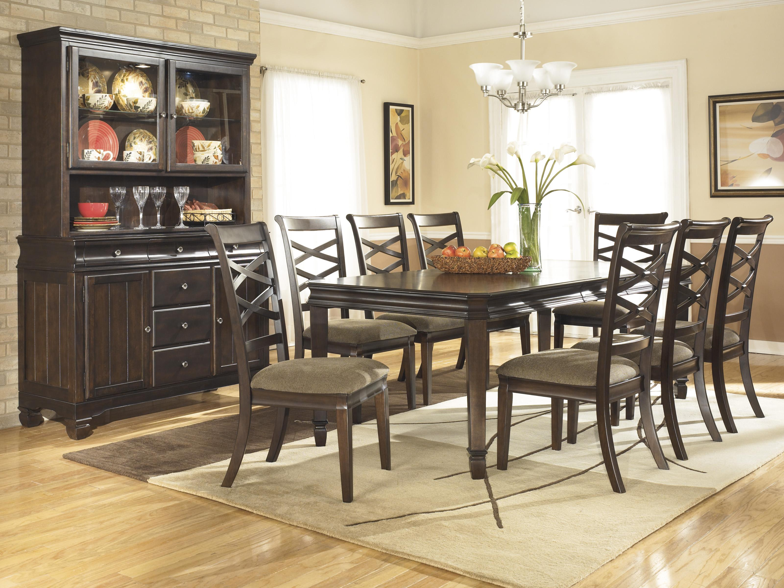 Ashley Furniture Hayley Casual Dining Room Group - Item Number: D480 Dining Room Group 4
