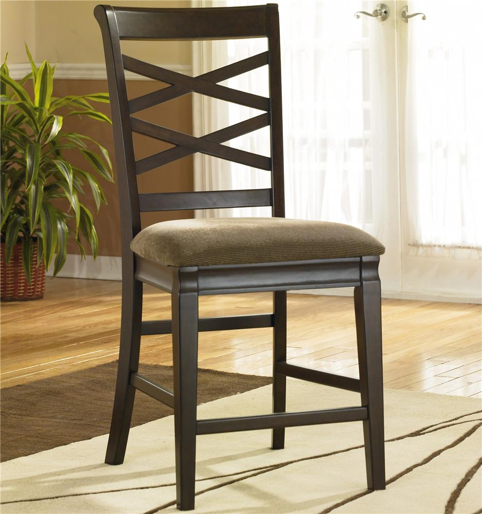 Ashley Furniture Hayley 24 Inch Double X Back Counter Height Stool