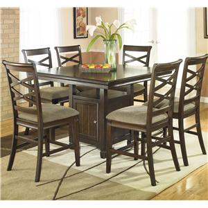 Ashley Furniture Hayley 7 Piece Pub Dining Set
