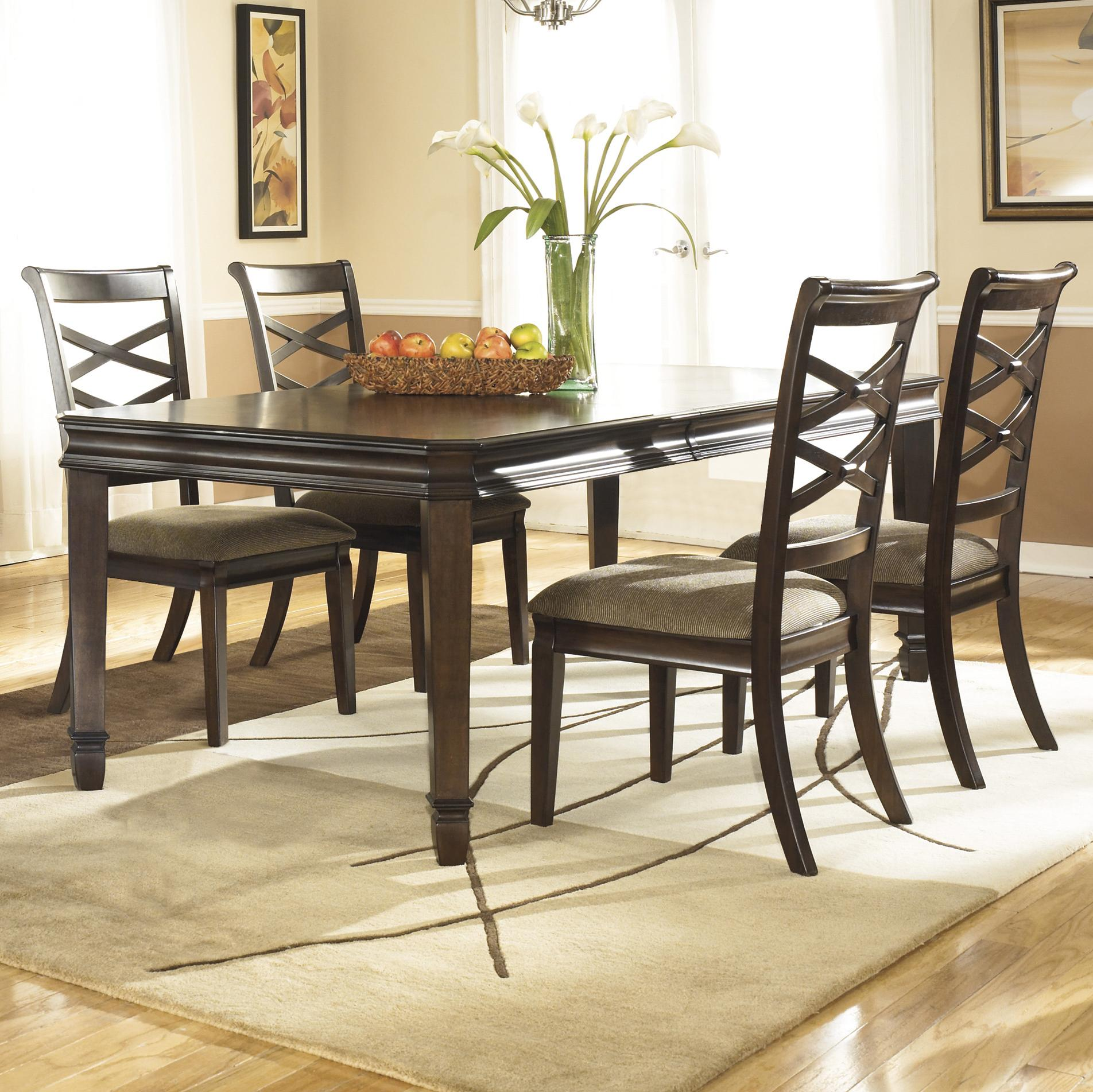 Ashley Furniture Hayley 5 Piece Dining Set - Item Number: D480-35+4x01