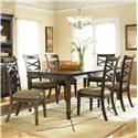 Ashley Furniture Hayley 7 Piece Dining Set - Item Number: D480-35+6x01