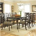 Ashley Furniture Hayley Contemporary Rectangular Table with 8 Chairs - Item Number: D480-35+8x01