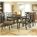 Ashley Furniture Hayley Rectangular Extension Table with Exposed Wood Legs - Dining Table Shown with Chairs