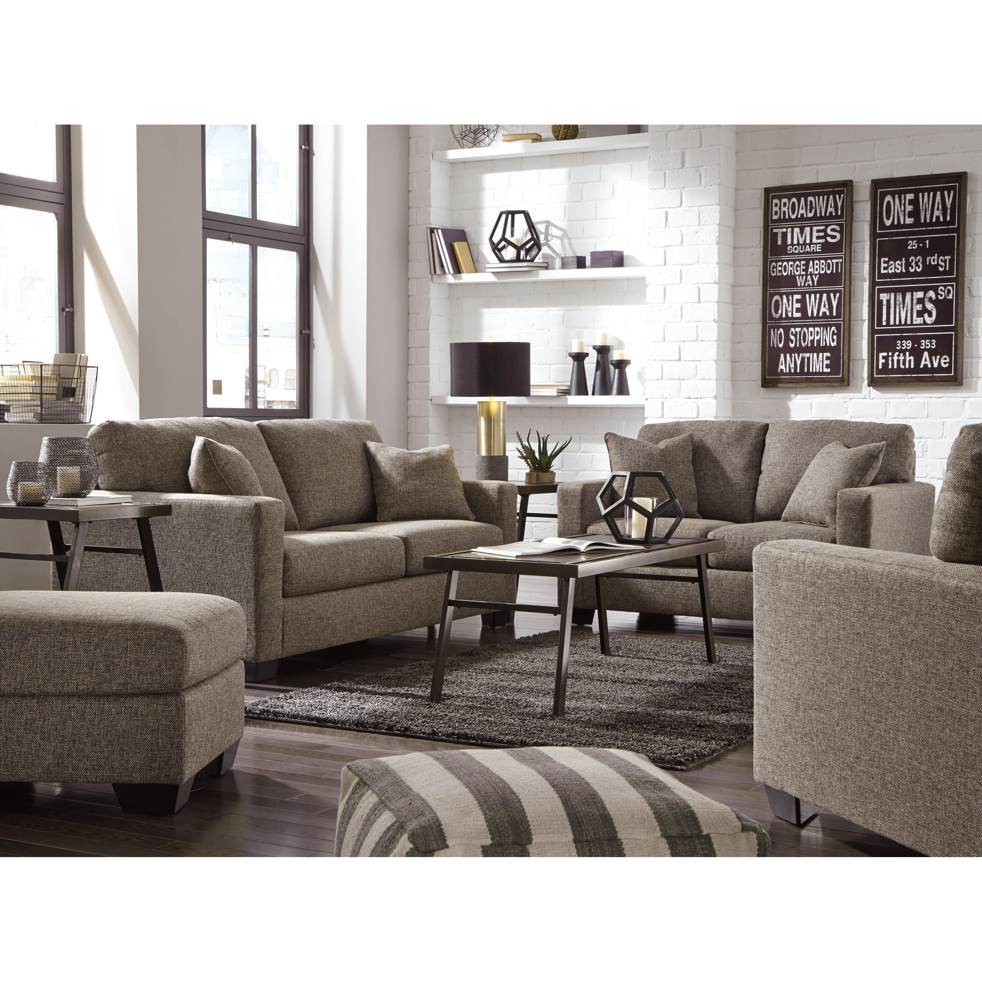 Ashley furniture hearne contemporary chair ottoman - Ashley furniture 14 piece living room sale ...