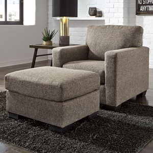 Ashley Furniture Hearne Chair & Ottoman