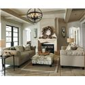 Ashley Furniture Hindell Park Transitional Chesterfield Sofa