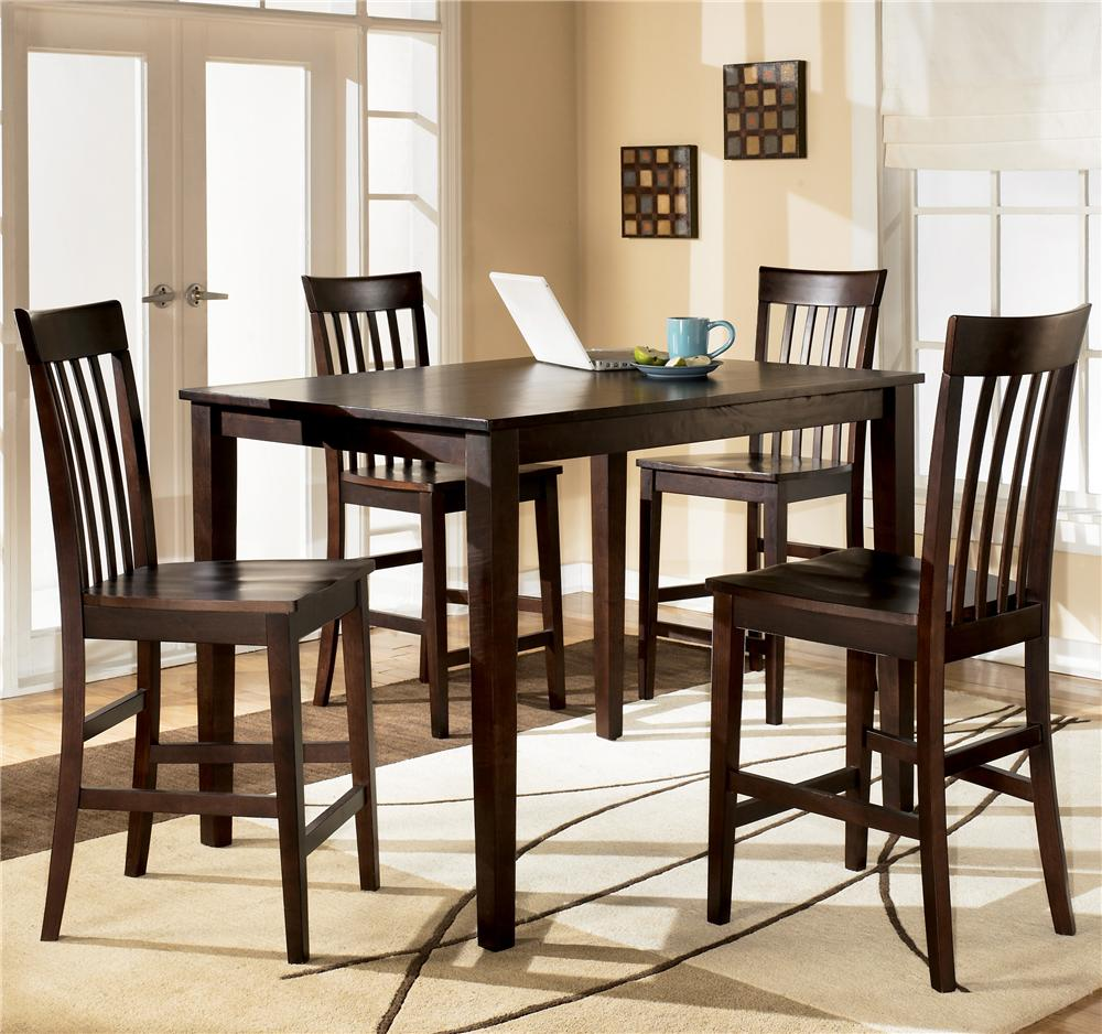 Ashley Furniture Hyland 5 Piece Rectangular Counter Height Table  # Muebles Wichita Ks