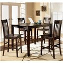 Ashley Furniture Hyland Rectangular Counter Height Table w/ 4 Stools - Item Number: D258-223