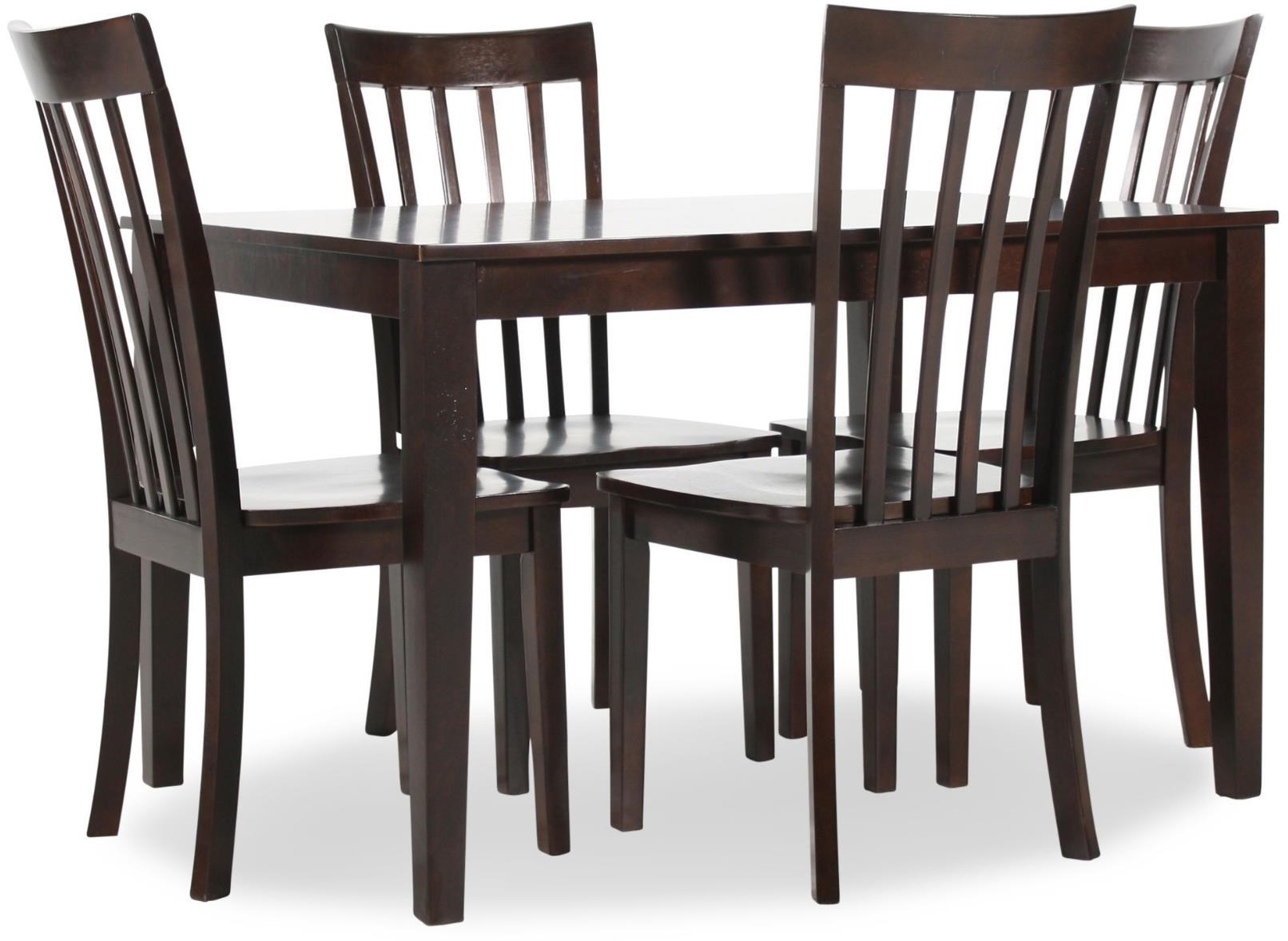 Hilton 5 Piece Dining Set With Rectangular Table And 4 Chairs Ruby Gordon Home Dining 5 Piece Sets