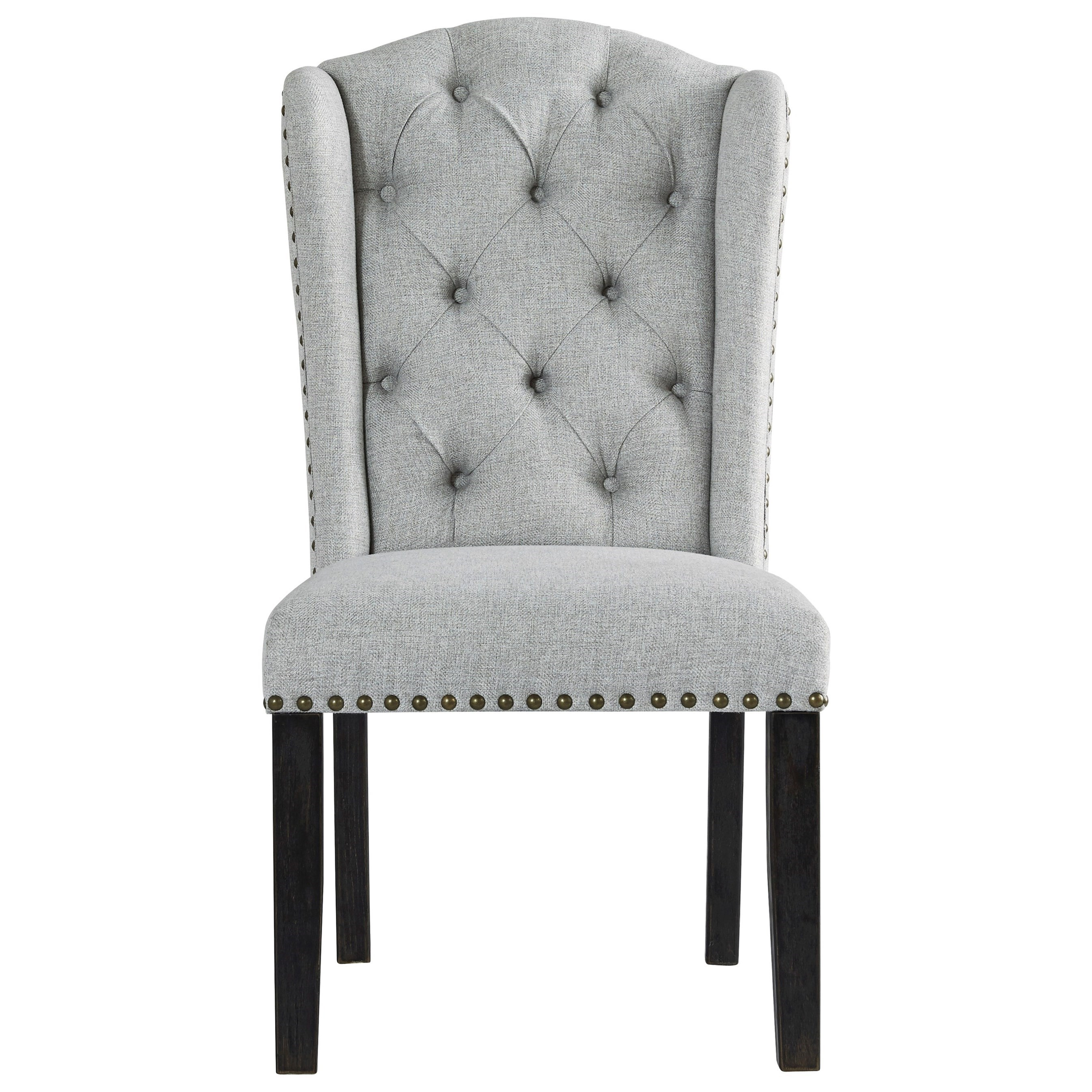 Ashley Furniture Jeanette Dining Upholstered Side Chair With Tufted Wingback And Nailhead Trim A1 Furniture Mattress Dining Side Chairs