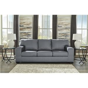 Kanosh Contemporary Gray Sofa Sleeper by Ashley Furniture at Sam Levitz  Furniture