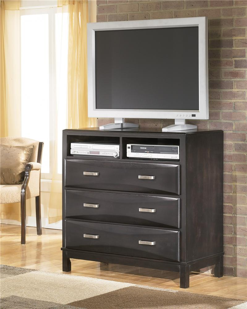 Ashley Furniture Kira 3 Drawer Media Chest | Olinde\'s Furniture ...