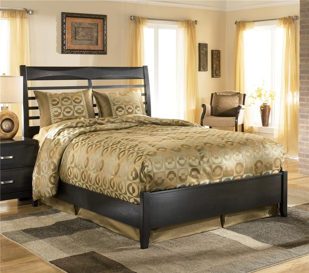 Ashley Furniture Kira Queen Panel Bed - Item Number: B473-54+57+96