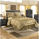 Ashley Furniture Kira Queen Panel Headboard - Item Number: B473-57+96