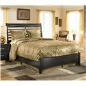 Ashley Furniture Kira California King Panel Bed  - Queen Size Bed Shown